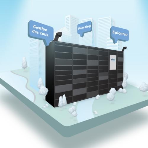 Consigne à colis Pakpobox pour les projets urbains et l'immobilier